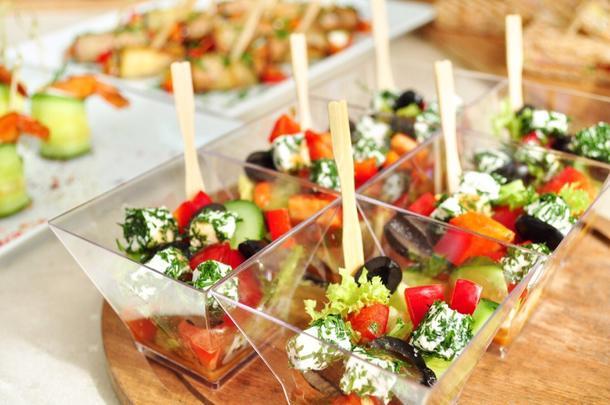 Салат «Греческий» в креманке